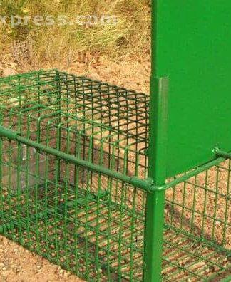 Jaula trampa captura conejos