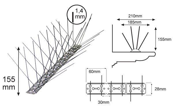 Pinchos gaviotas L210 LM