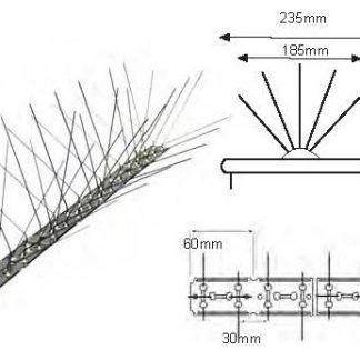 Pinchos palomas Spiketrack L185 LM