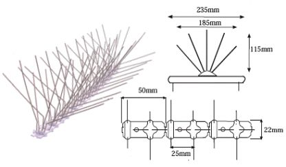 Pinchos palomas Spiketrack L220