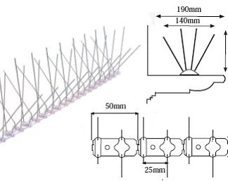 Pinchos palomas Spiketrack M170